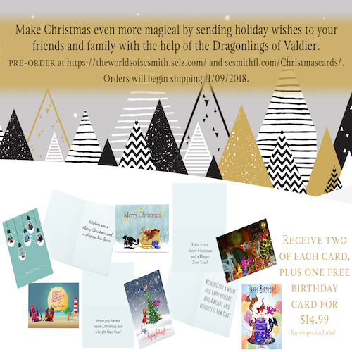 Dragonlings of Valdier Christmas & Happy Holidays Cards